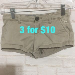 Abercrombie kids tan shorts 10
